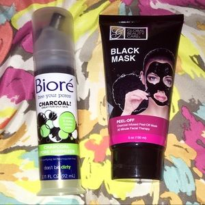 2 Piece Charcoal Facial Skincare Bundle.